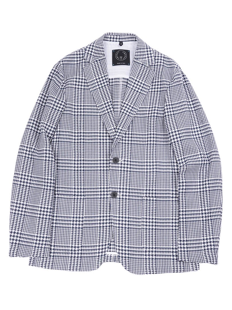 【T-JACKET】<br>グレンチェック2Bジャケット