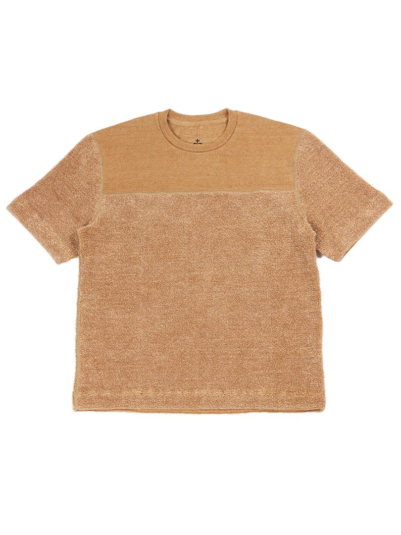 【SIDE SLOPE】リネンパイルニットTシャツ