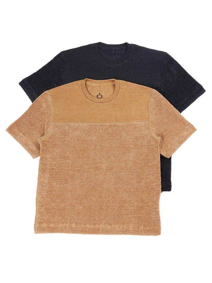 【SIDE SLOPE】<br>リネンパイルニットTシャツ