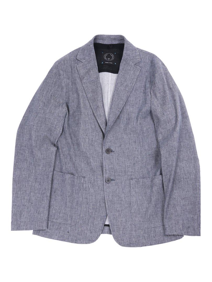 【T-JACKET】<br>リネンコットン2Bジャケット