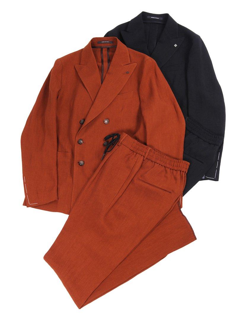 【TAGLIATORE】<br>A-BARRETT リネンレーヨンダブルスーツ