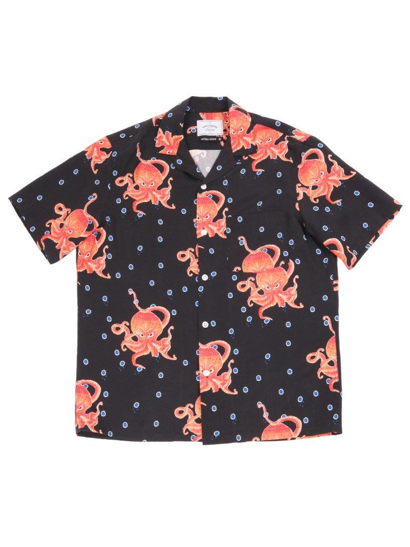 【Portuguese Flannel】<br>オープンカラーシャツ THE GREAT OCTUPUS