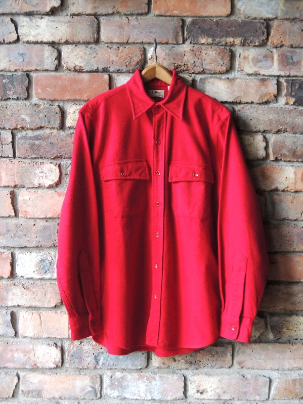 80's L.L.Bean Chamois Cloth solid shirt one wash