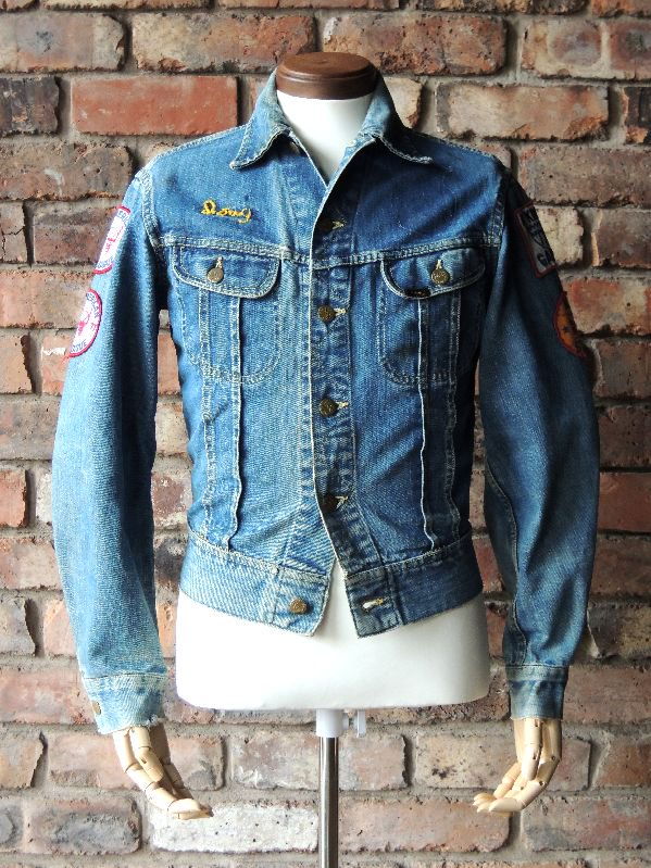 60's Lee 101-J Denim Jacket Patch size34