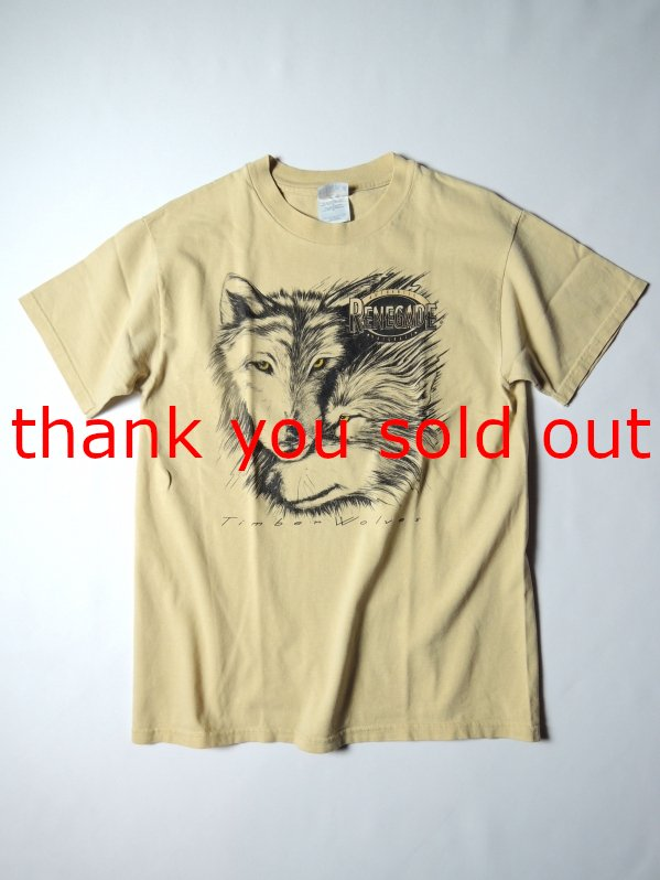 90's Hanes Cotton T-shirt Renegade Wolf USA