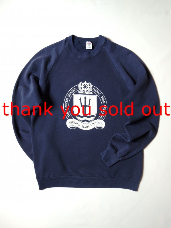 70's~80's Jerzees by russell Sweat Shirt naval war college