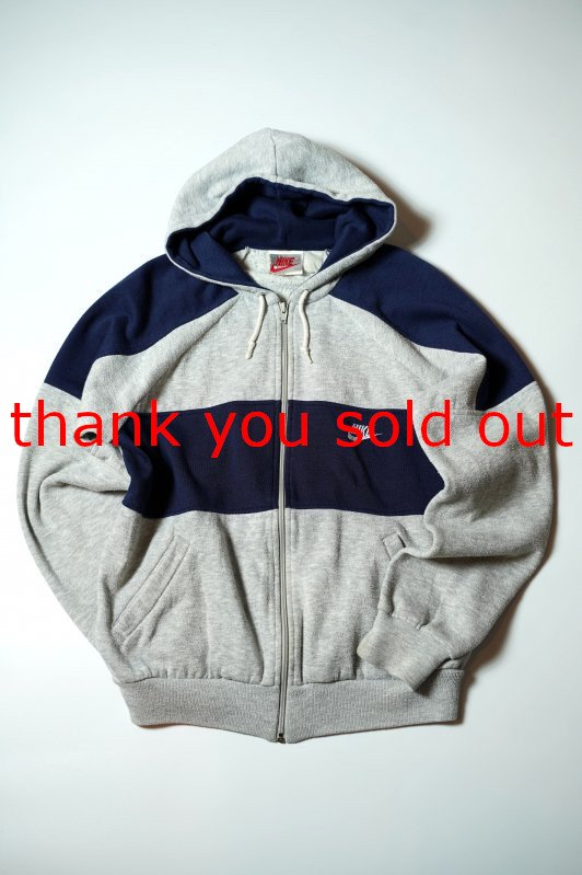 90's NIKE Zip-up Sweat parka Two tone