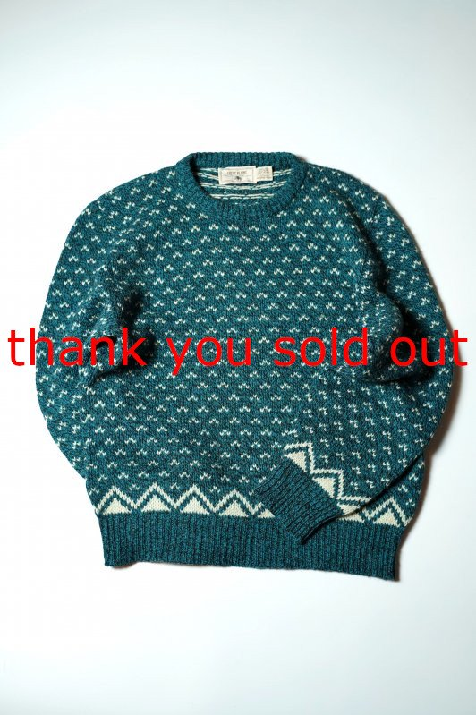 90's Great Plains wool knit Sweater Bird's eye