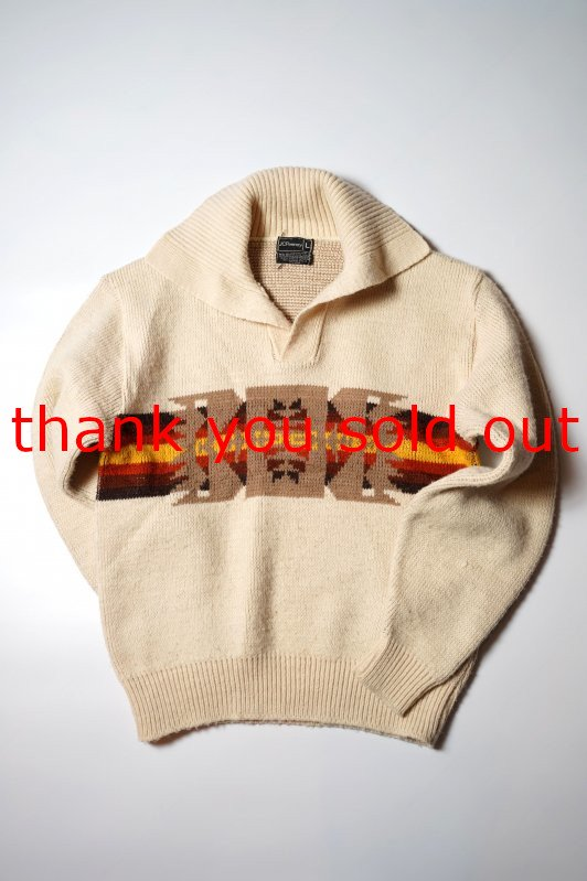 70's J.C.Penney Acrylic knit Native Sweater