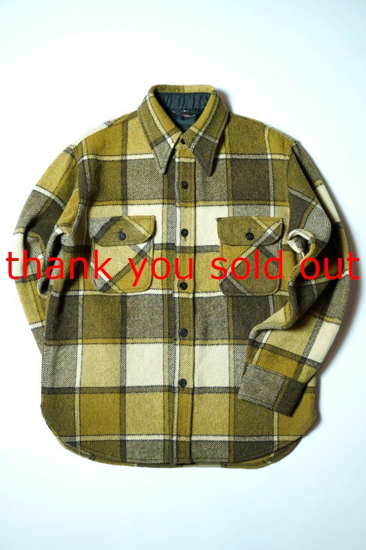 60's Towncraft Wool CPO Check Shirt