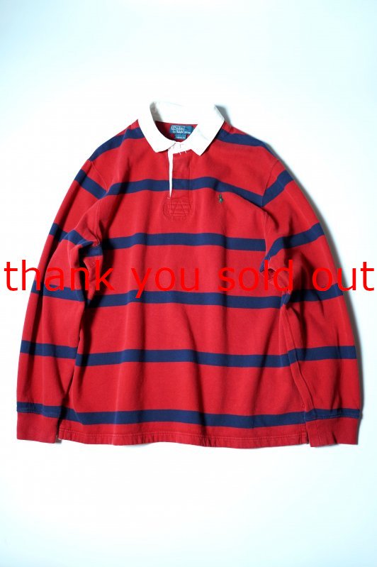 Ralph Lauren Polo Rugger Shirt Red×Navy
