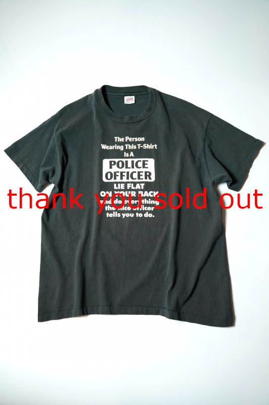 90's anvil cotton T-shirt Police officer