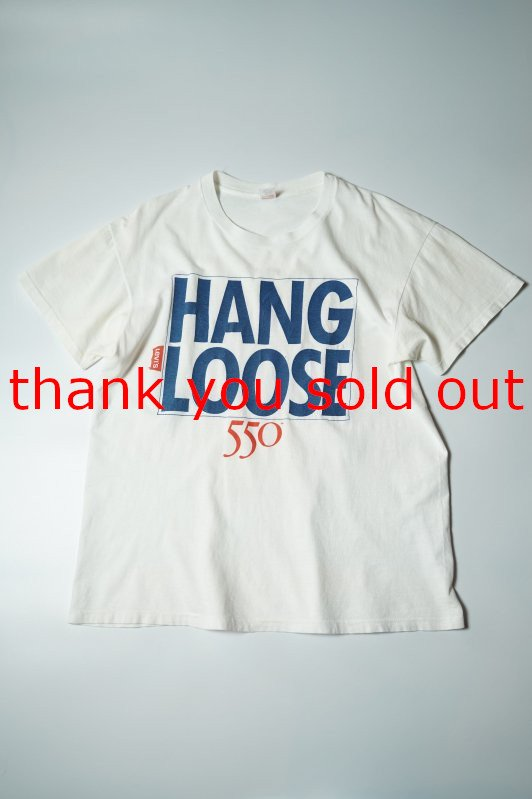 90's Hanes cotton T-shirt Hang Loose Levi's 550