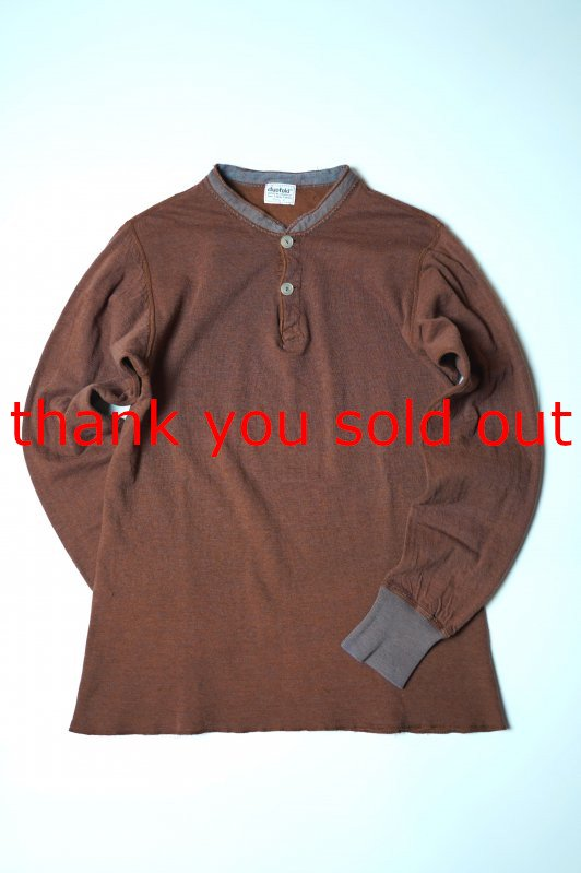 70's Duofold Two Layer Henry neck Thermal shirt