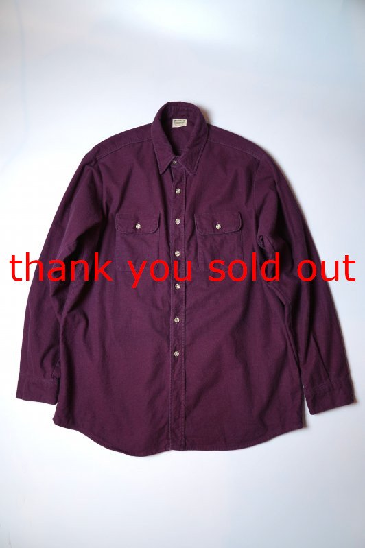 90's Five Brother cotton Solid Chamois cloth shirt