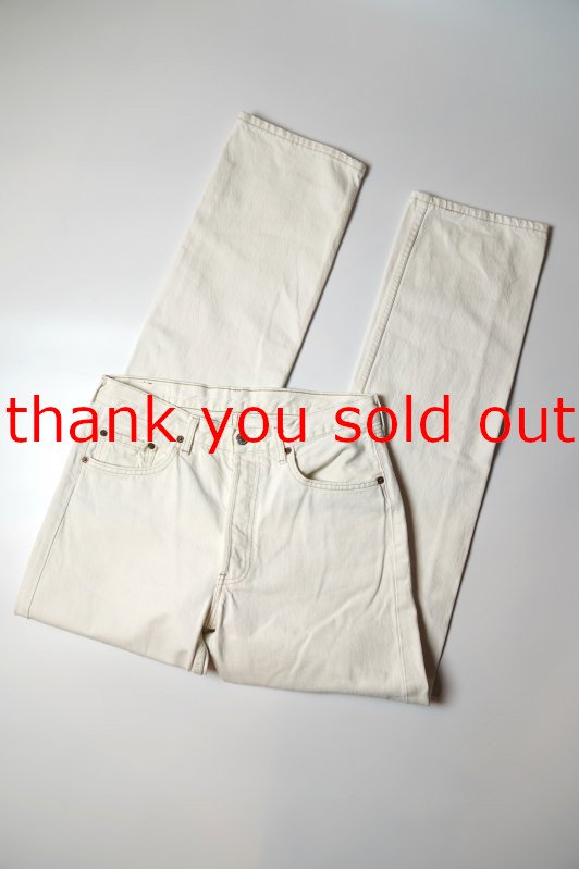 90's Levi's 501-0151 White denim pants W32 Made in France