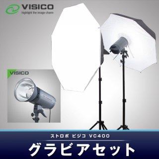 VISICO ビジコ ストロボ ライトVC400W グラビア2灯セット (23660)