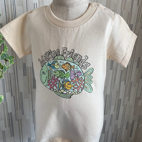 Marine friends ロンパース/Kids T-shirts