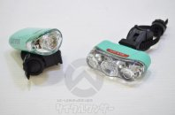 CATEYE LED ライト フロント/リアセット チェレステカラー 中古品