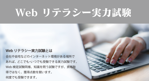 Webリテラシー実力試験 受験料
