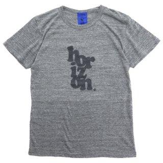 horizon ホライズン |logo20 tri-blend T (グレイ)(プリントTシャツ)(トライブレンド)