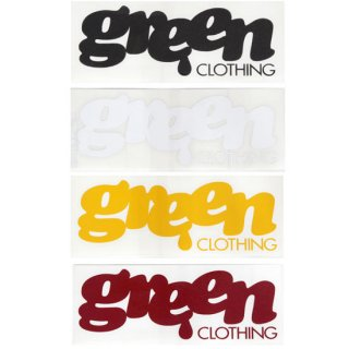 GREEN CLOTHING グリーンクロージング|LOGO STICKER ロゴ ステッカー 大 Large (屋外対応素材)
