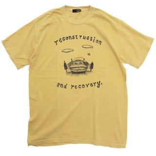 GREEN CLOTHING グリーンクロージング|#3 DRIVE TEE (染めマスタード)(プリントTシャツ)