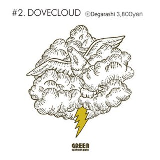 GREEN CLOTHING グリーンクロージング|#2 DOVECLOUD TEE (プリントTシャツ)