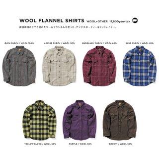 GREEN CLOTHING グリーンクロージング WOOL FLANNEL SHIRTS (ウールフランネルシャツ)