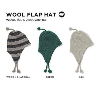 GREEN CLOTHING グリーンクロージング WOOL FLAP HAT (イヤーフラップビーニー)