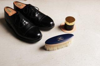 靴磨き用ブラシ(白い馬毛)