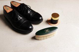 靴磨き用ブラシ(白い豚毛)