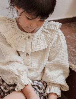 <img class='new_mark_img1' src='https://img.shop-pro.jp/img/new/icons20.gif' style='border:none;display:inline;margin:0px;padding:0px;width:auto;' />30%OFF minimom Isla Blouse Sandstone (イスラ ブラウス)
