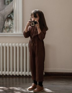 <img class='new_mark_img1' src='https://img.shop-pro.jp/img/new/icons20.gif' style='border:none;display:inline;margin:0px;padding:0px;width:auto;' />30%OFF minimom Olivia Overalls Chocolate Brown (オリビア オーバーオール)