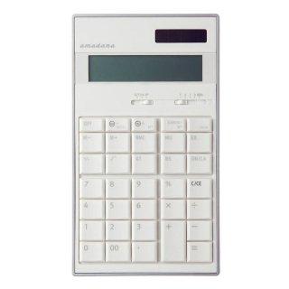 amadana 電子計算機(ホワイト):LC-704-WH