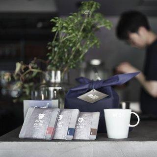 Beasty Coffee by amadana ドリップバッグ&マグ ギフトセット (ドリップバッグ10個、マグ[グロスホワイト])