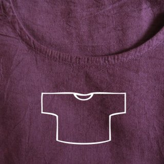 Tシャツ ショート 赤紫