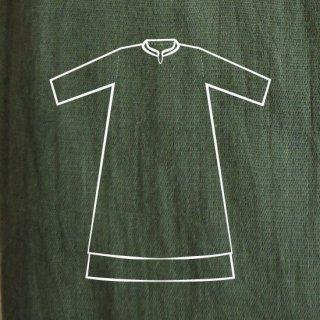 二層ワンピース(薄) 緑色