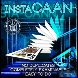 instaCAAN (Gimmicks and Online Instruction) by Joel Dickinson 〜Shadow Art〜観客と協力する予言マジック!!〜