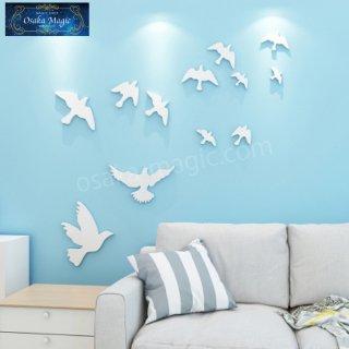 【壁面インテリア】ハト ウォールオブジェ�〜部屋の壁に取り付けてお部屋を可愛く飾ってみませんか?〜