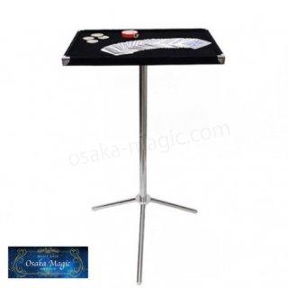 組み立て式ステンレストレイテーブル〜Tray Magician Table〜ステンレス製の堅牢なテーブル!しかも解体できる!
