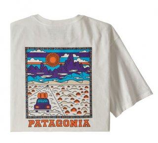 パタゴニア メンズ・サミット・ロード・オーガニック・Tシャツ  WHI(S)(L)