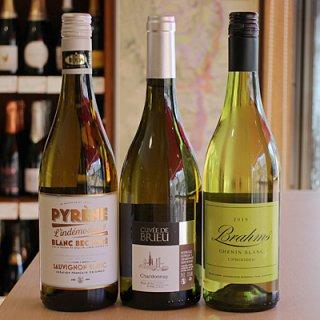 注目の3品種!白ワイン飲み比べ3本セット