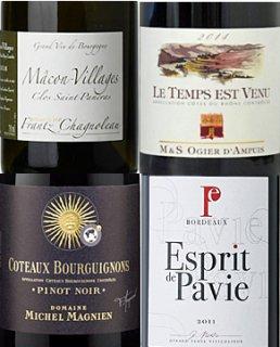 秋を楽しむプレミア・フランスワイン4本セット