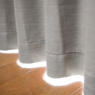 【Hifumi - 錫色】 クラシックな遮光1級カーテン 防炎/遮熱/保温 おしゃれなインテリアにおすすめの国産オーダーカーテン 寝室や出窓、カフェカーテンにも◎