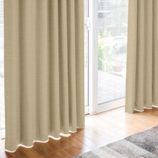 【chou chou - エクリュ】 クラシックな遮光1級カーテン 防炎/遮熱/保温 おしゃれなインテリアにおすすめの国産オーダーカーテン 寝室や出窓、カフェカーテンにも◎