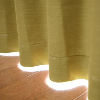 【遮光カーテン】遮光1級/遮熱/防炎機能付 出窓もOKのおしゃれなオーダーカーテン <chou chou - ティユール> グリーン