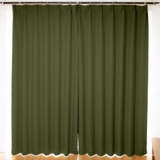 【遮光カーテン】遮光1級/遮熱/防炎機能付 出窓もOKのおしゃれなオーダーカーテン <chou chou - オリーブ> グリーン