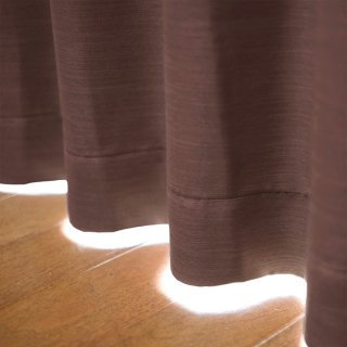 【遮光カーテン】遮光1級/遮熱/防炎機能付 出窓もOKのおしゃれなオーダーカーテン <chou chou - テュイル> ブラウン