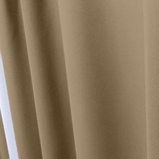 【遮光カーテン】遮光1級/遮熱/防炎機能付 出窓もOKのおしゃれなオーダーカーテン <tea party - ほうじ茶ラテ> ベージュ